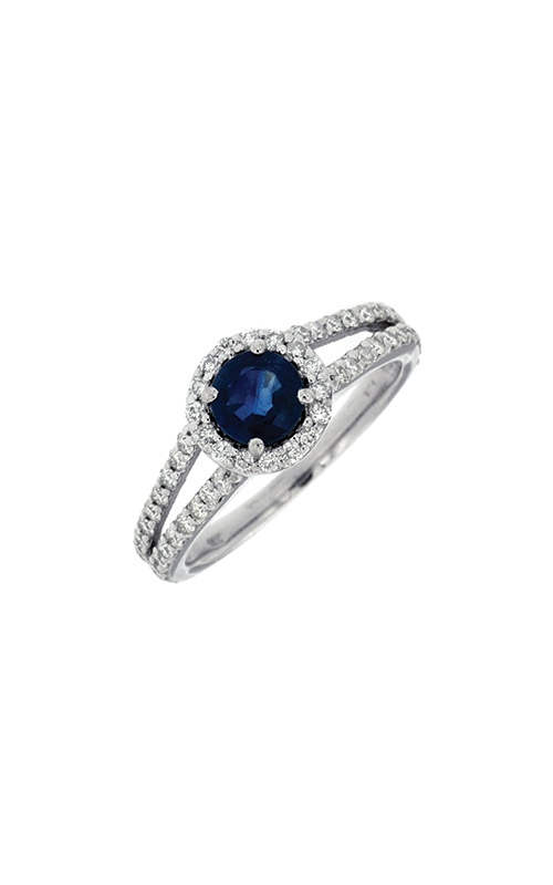 Albert's 14k White Gold 1.28ctw Blue Sapphire and Diamond Ring W3888SP product image