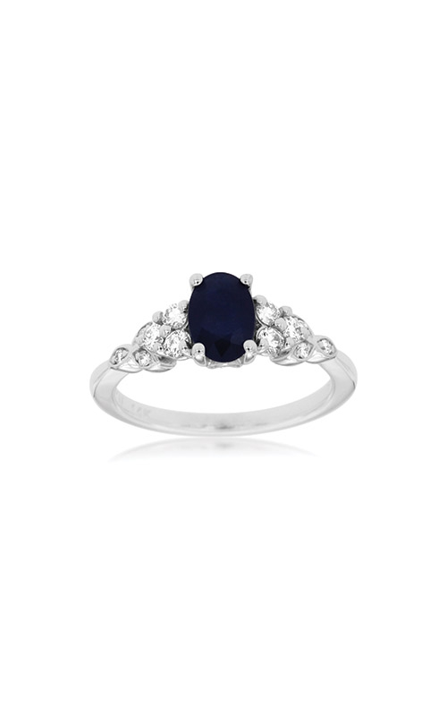 Albert's 14k White Gold 1.25ctw Blue Sapphire and Diamond Ring W3920SP product image
