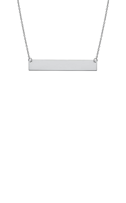 Albert's 14k White Gold Bar Necklace WBAR25-18 product image