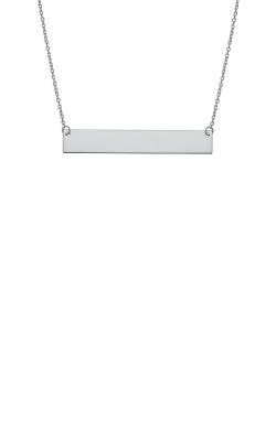 Albert's 14k White Gold Bar Necklace WBAR25-18 product image