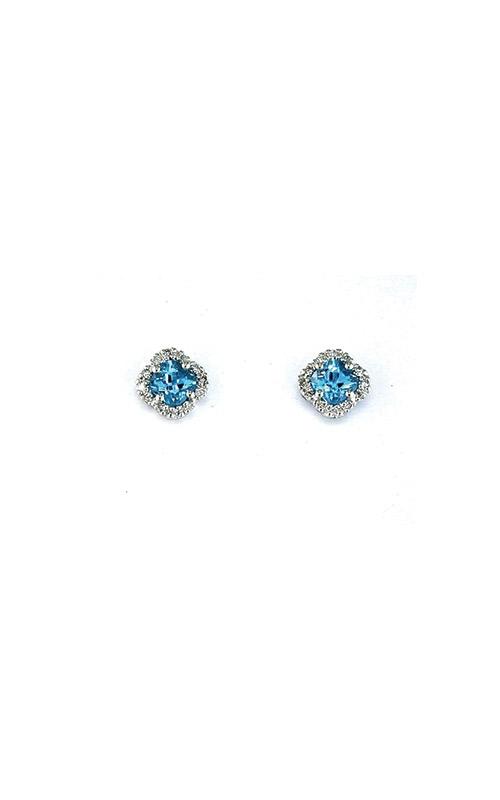 Albert's 14k White Gold 1.05ctw Blue Topaz and Diamond Earrings WC3222B product image