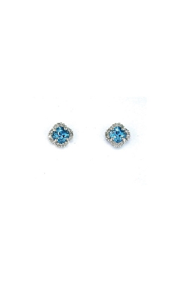 Albert's 14k White Gold 1.05ctw Blue Topaz And Diamond Earrings WC3222B product image