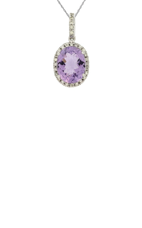 Albert's 14k White Gold 2.88ctw Amethyst Diamond Necklace WC4523A product image