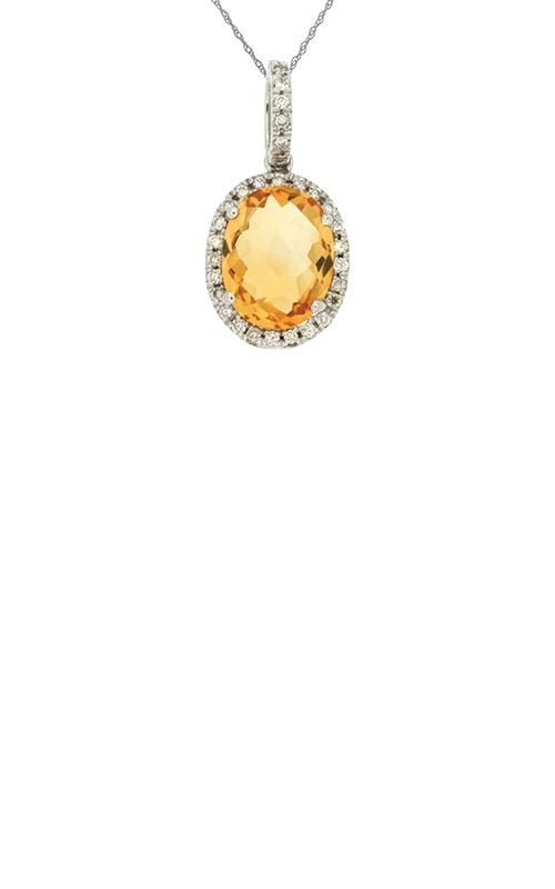 Albert's 14k White Gold 2.58 Citrine Diamond Necklace WC4523C product image