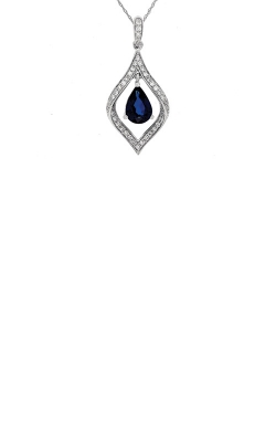 Albert's 14k White Gold 1.07ctw Blue Sapphire And Diamond Necklace WC5993S product image