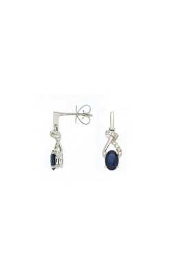 Albert's 14k White Gold 1.35ctw Blue Sapphire And Diamond Earrings WC6059S product image