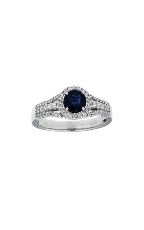 14k White Gold 1.12ctw Blue Sapphire and Diamond Ring WC6541S product image
