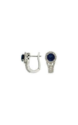 Albert's 14k White Gold 1.45ctw Blue Sapphire And Diamond Earrings WC6543S product image