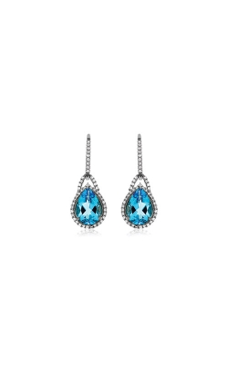 Albert's 14k White Gold 4.60ctw Blue Topaz And Diamond Earrings WC6544B product image