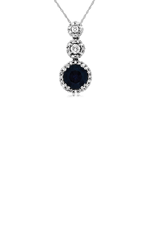 Albert's 14k White Gold 1.39ctw Blue Sapphire and Diamond Necklace WC6615S product image