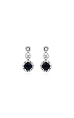 Albert's 14k White Gold 1.55ctw Blue Sapphire And Diamond Earrings WC6616S product image