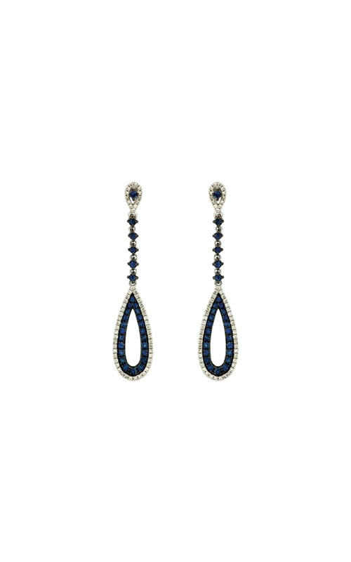 Albert's 14k White Gold 1.22ctw Blue Sapphire and Diamond Earrings WC6824S product image