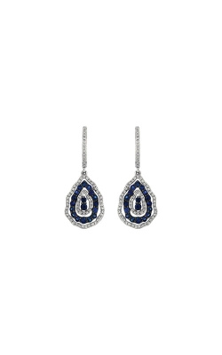Albert's 14k White Gold 1.42ctw Blue Sapphire And Diamond Earrings WC6991S product image