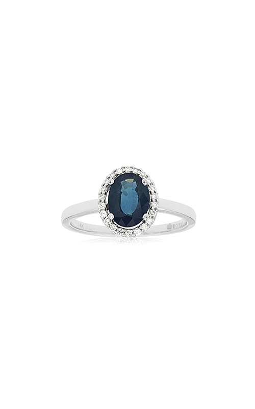 Albert's 14k White Gold 1.47ctw Blue Sapphire and Diamond Ring W3788SP product image