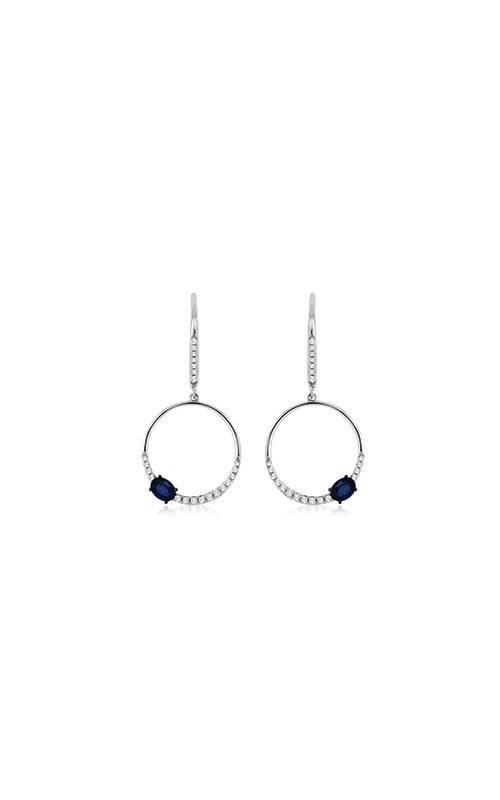 Albert's 14k White Gold .63ctw Blue Sapphire and Diamond Earrings WC7466S product image