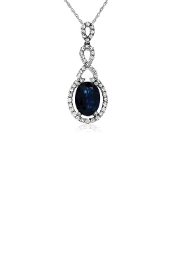 Albert's 14k White Gold 1.73ctw Blue Sapphire And Diamond Necklace WC7678S product image
