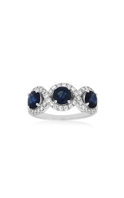 Albert's 14k White Gold 2.10ctw Blue Sapphire and Diamond Ring WC7920S product image