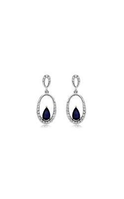 Albert's 14k White Gold .75ctw Blue Sapphire And Diamond Earrings WC7937S product image