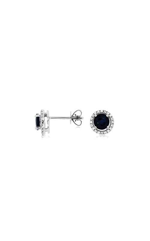 Albert's 14k White Gold 1.25ctw Blue Sapphire and Diamond Earrings WC7939S product image