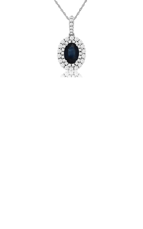 Albert's 14k White Gold 1.39ctw Blue Sapphire and Diamond Necklace WC8531S product image