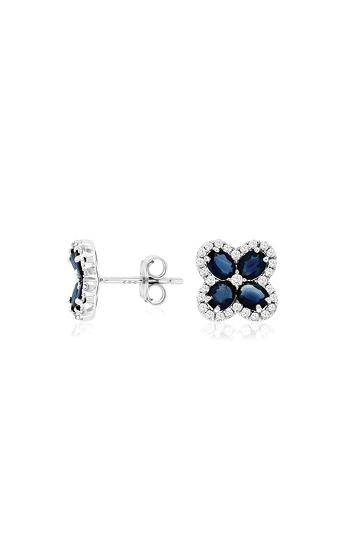 Albert's 14k White Gold 2.15ctw Blue Sapphire and Diamond Stud Earrings WC8618S product image
