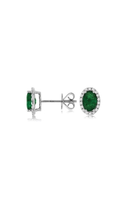 Albert's 14k White Gold 1.59ctw Emerald And Diamond Stud Earrings WC8645E product image