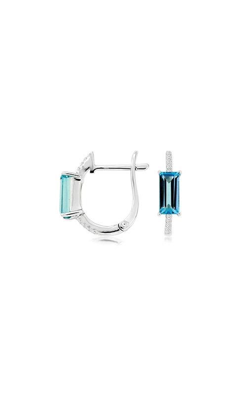 Albert's 14k White Gold 1.58ctw Blue Topaz and Diamond Earrings WC8838B product image
