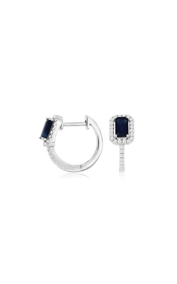 Albert's White Gold .96ctw Blue Sapphire And Diamond Earrings WC9548S product image
