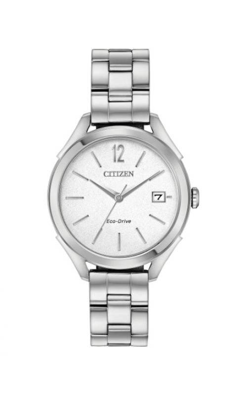 Citizen Ladies Eco-Drive Silver Dial Watch FE6140-54A product image