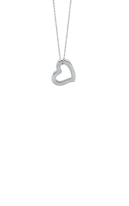 Albert's 14k White Gold Open Heart Pendant WN290-18 product image