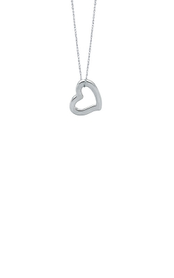 Albert's 14k White Gold Open Heart Pendant WN290-18 product image