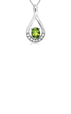 Albert's 14k White Gold .46ctw Peridot And Diamond Necklace WP3889X product image