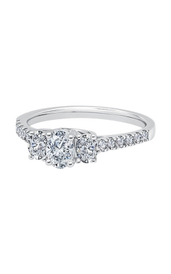Albert's 14k White Gold 1ctw 3 Stone Oval Engagement Ring Y100K6F4PRW product image