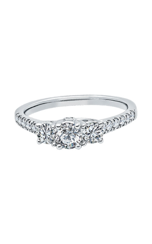 Albert's 14k White Gold 1ctw 3 Stone Round Engagement Ring Y100K8F4PRW4  product image