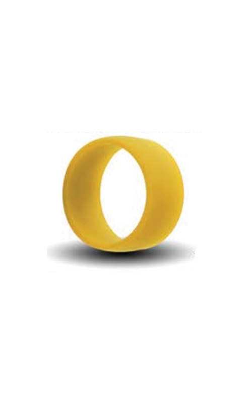 Albert's Yellow Silicone Band Size 10 SILICONE10-YELLO product image