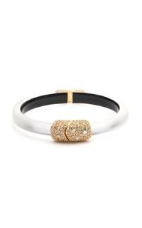 Alexis Bittar Crystal Encrusted Clasp Skinny Hinge Bracelet AB00B133010 product image