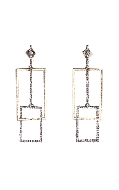 Alexis Bittar Crystal Encrusted Brutalist Link Post Earring AB83E016 product image
