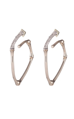 Alexis Bittar Crystal Encrusted Bamboo Hoop Earring AB92E016 product image