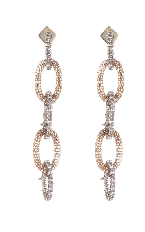 Alexis Bittar Crystal Encrusted with Mesh Link Dangling Post Earring AB92E024 product image