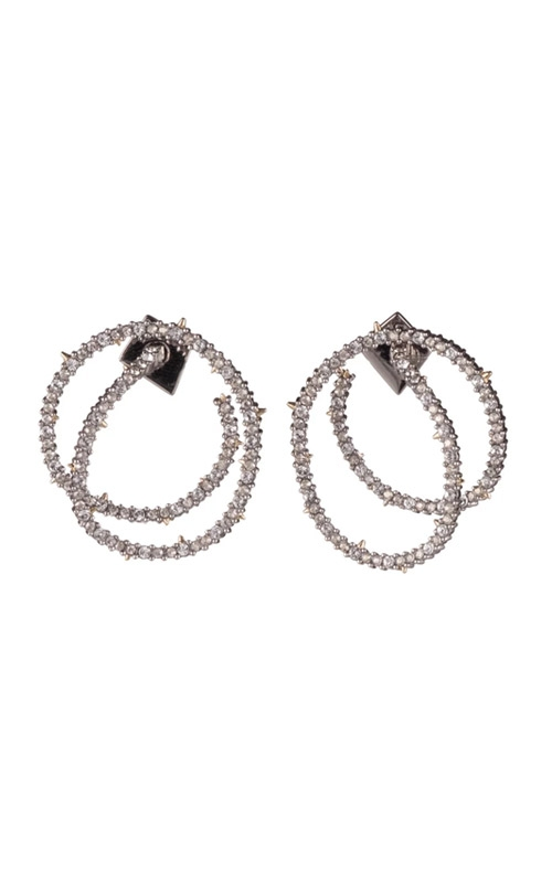 Alexis Bittar Crystal Encrusted Coil Link Post Earring AB92E031 product image