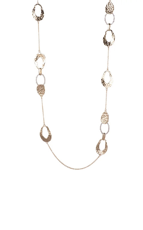 Alexis Bittar Hammered Metal Link Station Necklace AB92N006 product image