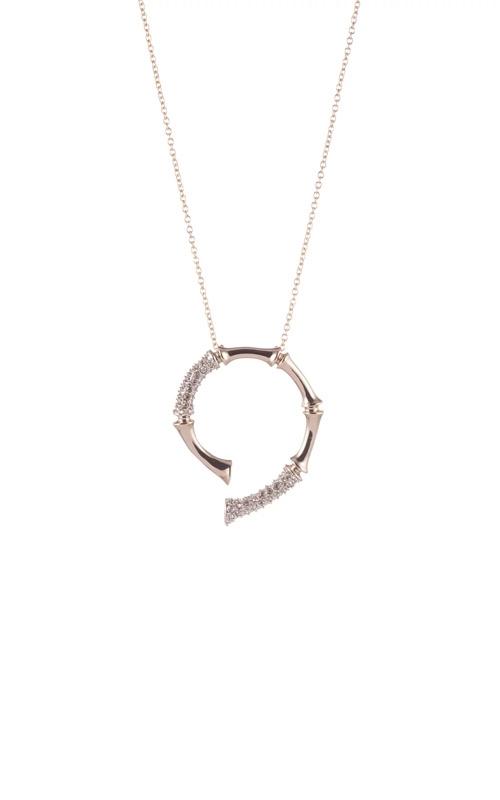 Alexis Bittar Crystal Bamboo Horseshoe Pendant Necklace AB92N016 product image
