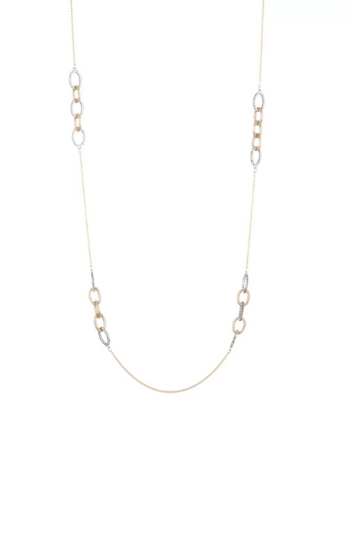 Alexis Bittar Crystal Encrusted Mesh Chain Link Station Necklace AB93N037 product image