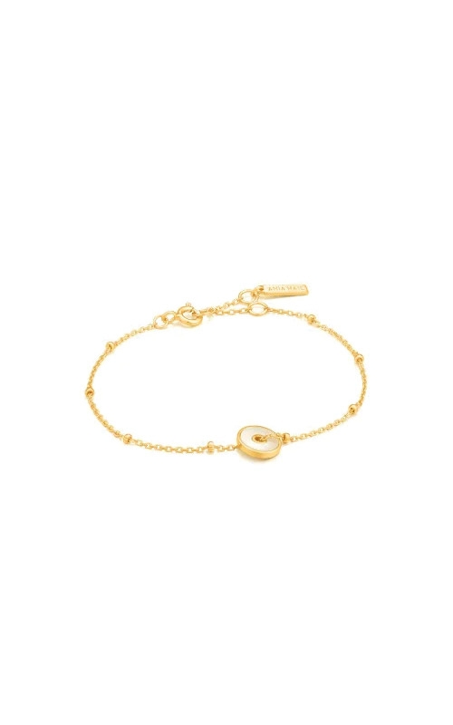 Ania Haie Gold Mother Of Pearl Disc Bracelet B022-01G product image