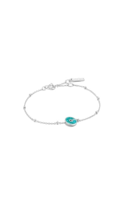 Ania Haie Silver Turquoise Disc Bracelet B022-01H product image
