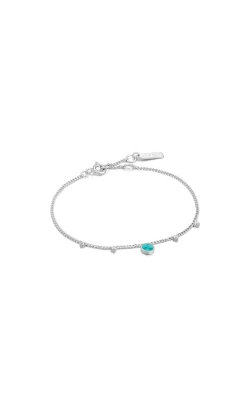 Ania Haie Silver Turquoise Drop Disc Bracelet B022-03H product image