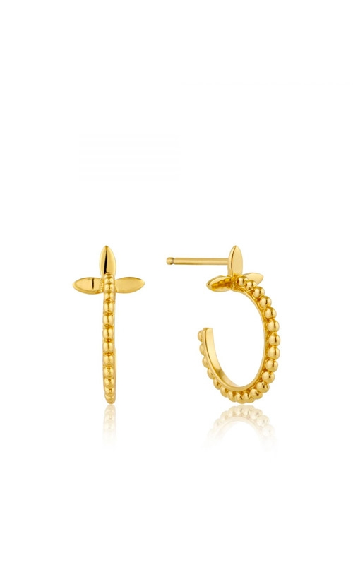 Ania Haie Modern Beaded Hoop Earrings E002-02G product image