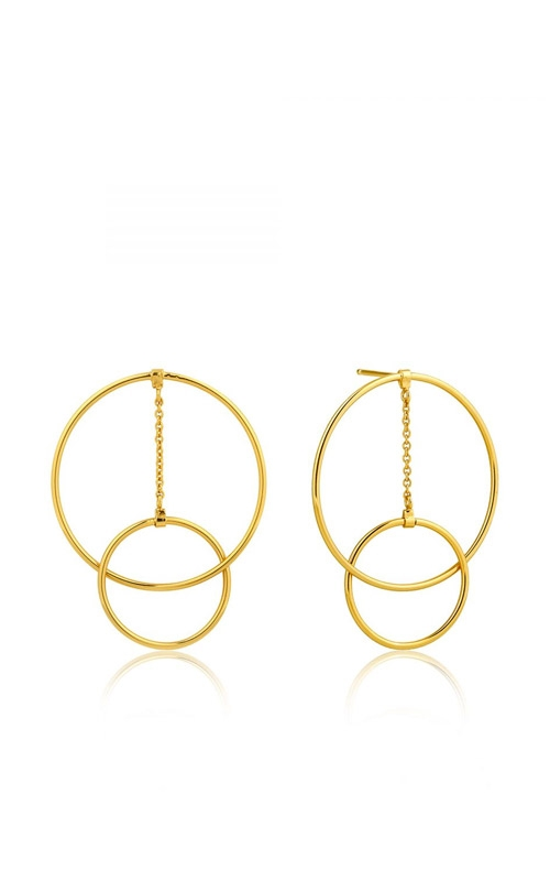 Ania Haie Modern Front Hoop Earrings E002-04G product image
