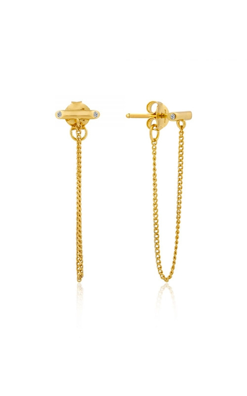 Ania Haie Shimmer Chain Stud Earrings E003-02G product image