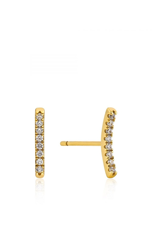 Ania Haie Shimmer Pave Bar Stud Earrings E003-06G  product image
